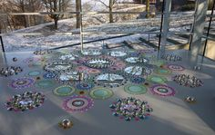 Landscape Floor Installations by Suzan Drummen in art Category