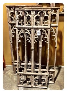 Cast iron gothic panel, $45.00.  Gaslamp Antiques Too, booth T268.