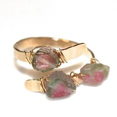 Rustic Watermelon Tourmaline Ring Tourmaline Ring by FizzCandy