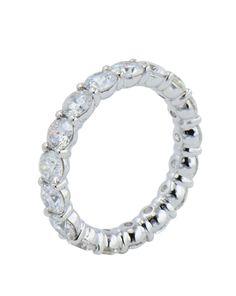 45406cfdb57ea 18 karat white gold eternity ring with diamonds.