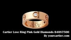 Cartier Love Ring-Cartier Love Ring Yellow Gold Studded with Diamonds - video dailymotion Cartier Love Ring, Cartier Jewelry, Cartier Love Bracelet, Cartier Wedding Bands, Wedding Rings, Yellow Gold Rings, Pink And Gold, Pink Ring, Love Bracelets