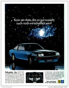 Original-Werbung/ Anzeige 1978 - OPEL MANTA GT - ca. 200 x 240 mm