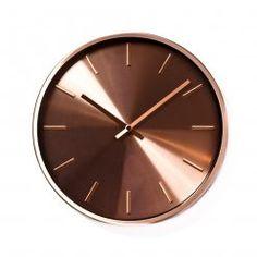 Home Republic Scandi Copper Clock, clocks, metal clocks
