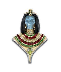 ☆ Theo Fennell Cleopatra Skull Brooch ☆