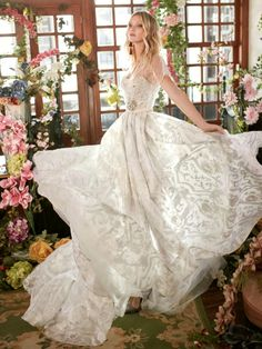 """Let's kick off 2018 with a brand new fall 2018 bridal collection from Galia Lahav Wedding Dresses! These dreamy wedding dresses from the Florence by Night collection are full of sensory overload. This designer challenges us to """"delve deeper into the world of scents and perfumery, rhythm and melody, to create the perfect fragrance and …"""
