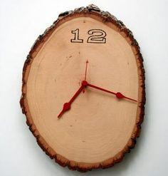 wood burning - clock