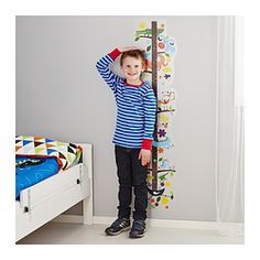 "IKEA - ROKNÄS, Decorative stickers, With ROKNÄS on the wall your children can measure how tall they are and see how much they've grown (up to 55"")."