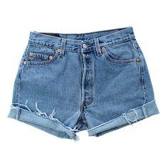 Vintage 501 Levis VS064 [W27] (1.140 CZK) ❤ liked on Polyvore featuring shorts, bottoms, pants, denim cut offs, denim shorts, levi shorts, ripped shorts and vintage shorts