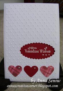 A Peek Inside The Creative Corner: A Clean & Simple Valentine Card Homemade Valentine Cards, Valentines Day Cards Handmade, Valentines Greetings, Valentine Greeting Cards, Greeting Cards Handmade, Homemade Cards, Valentine Mailboxes, Valentine Ideas, Heart Vector