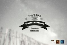 Check out Vintage Logo/Insignia [-50% OFF] by symufaplus on Creative Market