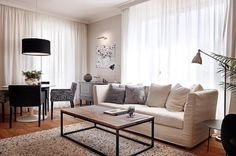 Blanco, negro y madera, la mezcla perfecta #hometour #decoración