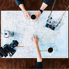 Travelling and coffee