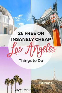 Visiting Los Angeles, California soon on a trip? Here are 26 free or insanely cheap things to do in Los Angeles. See everything from the Santa Monica Pier, the Getty Museum, downtown LA, and more. Snag your free map in this travel guide, too! Save money and have fun with this list of free or cheap things to do in Los Angeles. #jenontherun #bucketlist #california #californiatravel #thingstodo #map