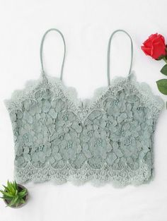 SHARE & Get it FREE | Cami Scalloped Lace Tank Top - Light GreenFor Fashion Lovers only:80,000+ Items • New Arrivals Daily Join Zaful: Get YOUR $50 NOW!