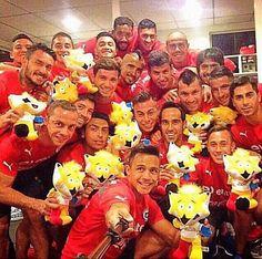 Selfie de la selección chilena