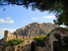 #Palamidi Castle as seen from the adjacent #Akronafplia Castle at the end of the peninsula. #Nafplio, #Peloponnese