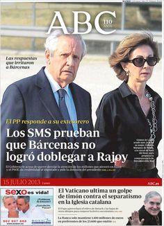 Los Titulares y Portadas de Noticias Destacadas Españolas del 15 de Julio de 2013 del Diario ABC ¿Que le parecio esta Portada de este Diario Español?