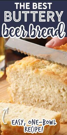 Bread Machine Recipes, Quick Bread Recipes, Easy Bread, Cooking Recipes, Beer Bread Recipes, Hamburger Crockpot Recipes, Chicken Soup Recipes, Comfort Food, Food To Make