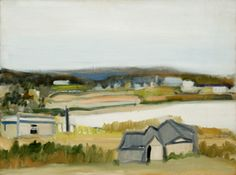 Jane Freilicher (American, b. 1924) Grey Day, 1963  Oil on canvas (Photo Courtesy Parrish Art Museum)