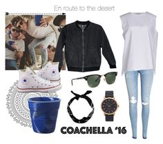 """""""Matching girl Joe Sugg COACHELLA'16#5"""" by notinterestingfreya ❤ liked on Polyvore featuring H&M, Acne Studios, Rayban, Marc Jacobs, Valfré, Converse, Revol and New Look"""