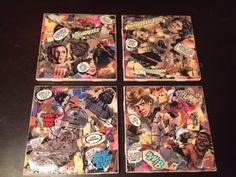 DIY Comic Book Coasters