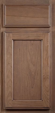 Hinson flat panel cabinet doors have distinct detailing that provides a feeling of depth.