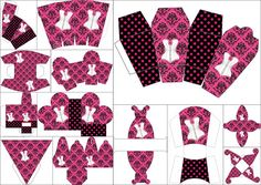 Pink Lingerie: Free Printable Boxes.