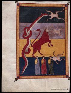 "The ""Beatus"" Manuscripts - Beato de Liébana in medieval manuscripts Medieval Manuscript, Medieval Art, Renaissance Art, Illuminated Manuscript, Medieval Paintings, Oriental, Apocalypse, Book Of Hours, Art Memes"