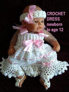 CROCHET SUNDRESS, newborn to age 12