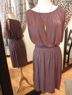 Banded Waist Sleeveless Dress $42, 812.330.3527 to order