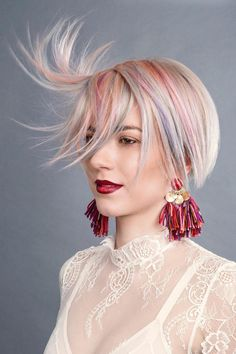 This delicate pastel Aveda Color from Global Fashionista nominee Aveda Artist Nina Strid of Norway has us starry-eyed.