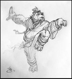 Pandaren Monk by Tokoldi Pandaren Monk, Pencil Drawing Inspiration, Monster Sketch, Warcraft Characters, Sketch Tattoo Design, Warcraft Art, Human Drawing, Wow Art, Drawing Skills