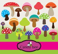 A personal favorite from my Etsy shop https://www.etsy.com/listing/226792271/mashroom-digital-clipart-set-buy-1-get-1