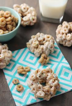 Sprinkled Donut Cereal Treats