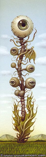 This would be cute on a plant..just put some eyes in it...✯ Eye Plant .. Artist Naoto Hattori✯