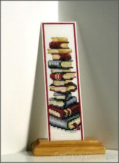 Stack of Books cross stitch design, this is the one I'm doing now!