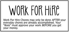 Work for Hire chore board - The Chic Site Chore Chart Kids, Chore Charts, Small Binder, Chore Board, The Chic Site, Work For Hire, Chore List, Charts For Kids, Activity Days
