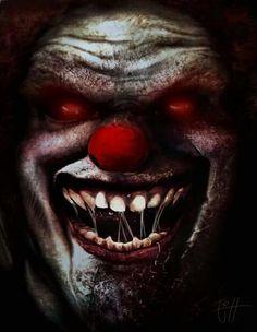 Clown by RobotDelEspacio on DeviantArt Clown Horror, Arte Horror, Horror Art, Horror Movies, Freaky Clowns, Evil Clowns, Creepy Circus, Creepy Carnival, Scary Art
