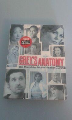Grey's Anatomy -Season 2: Uncut (DVD, 2006, 6-Disc Set) Brand New Factory Sealed