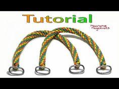How to Make Easy Macrame Bag Handles DIY / Spiral Macrame Bag Handles – Macrame Diy Makeup Bag Tutorial, Handbag Tutorial, Diy Handbag, Diy Bag Handles, Magic Knot, Crochet Market Bag, Crochet Bags, Diy Braids, Macrame Bag