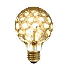 40 Watt G25 Gold Marble Coated Globe Bulb
