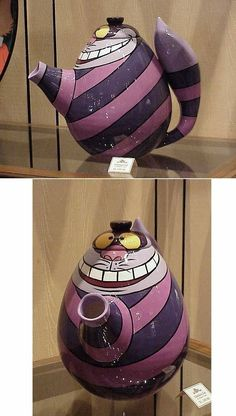 Cheshire Cat teapot - the-cheshire-cat Photo Pet Accessories, Dog Toys, Cat Toys, Pet Tricks Chesire Cat, Teapots Unique, Teapots And Cups, Mad Hatter Tea, My Cup Of Tea, Chocolate Pots, Artisanal, Alice In Wonderland, All Things Purple
