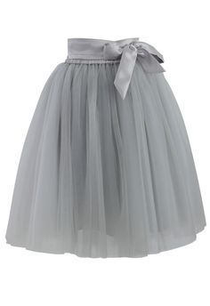 Amore Tulle Skirt in Grey - Skirt - Bottoms - Retro, Indie and Unique Fashion