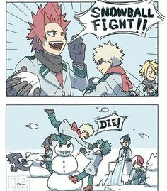 My Hero Academia: Random Shit - Snowball Fight - Wattpad Boku No Hero Academia Funny, My Hero Academia Episodes, My Hero Academia Memes, Buko No Hero Academia, Hero Academia Characters, My Hero Academia Manga, Funny Anime Pics, Anime Meme, Anime Guys