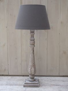 This Aged Effect Ornate Tall Wooden Lamp Is Sure To Make A Statement In Any Room