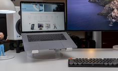 TwelveSouth Curve SE Laptop Stand from @twelvesouth #REVIEW In matte-black it was gorgeous in white it's perfect Laptop Stand, Home Automation, Monitor