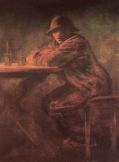 In the Tavern - Mednyanszky Laszlo Famous Words, Art Database, Oil Painting Reproductions, Mans World, Impressionism, Vulnerability, Fine Art America, Wall Art, Illustration