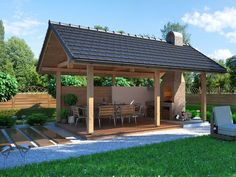 DOM.PL™ - Projekt domu Moja Altanka 1 CE - ALTANA BM9-71 - gotowy projekt domu
