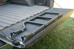 Tailgate Ladder Tailgate Step by REL Stapleton Source link - Modern New Gmc Truck, Tacoma Truck, Chevy Pickup Trucks, Old Ford Trucks, Lifted Chevy, Tailgate Step, Truck Tailgate, Truck Canopy Camping, Ute Trays