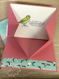 """Claudinchens-creative-Page: Video tutorial tarjeta plegable con cupón o dinero . - Claudinchens-creative-Page: Video tutorial tarjeta plegable con cupón o compartimento para dinero """" - Fancy Fold Cards, Folded Cards, 21st Birthday Cards, Card Making Templates, Origami, Card Tutorials, Pop Up Cards, Stamping Up, Stampin Up Cards"""
